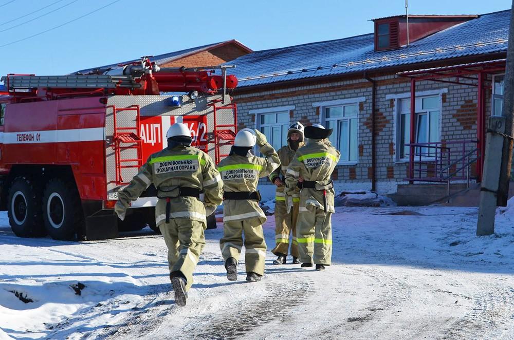 Профессиональная подготовка добровольных пожарных дружин