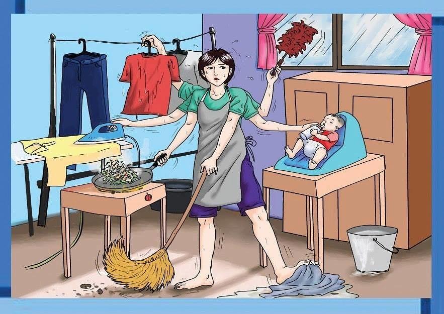 Картинки домашние дела по дому прикольные, дню работников